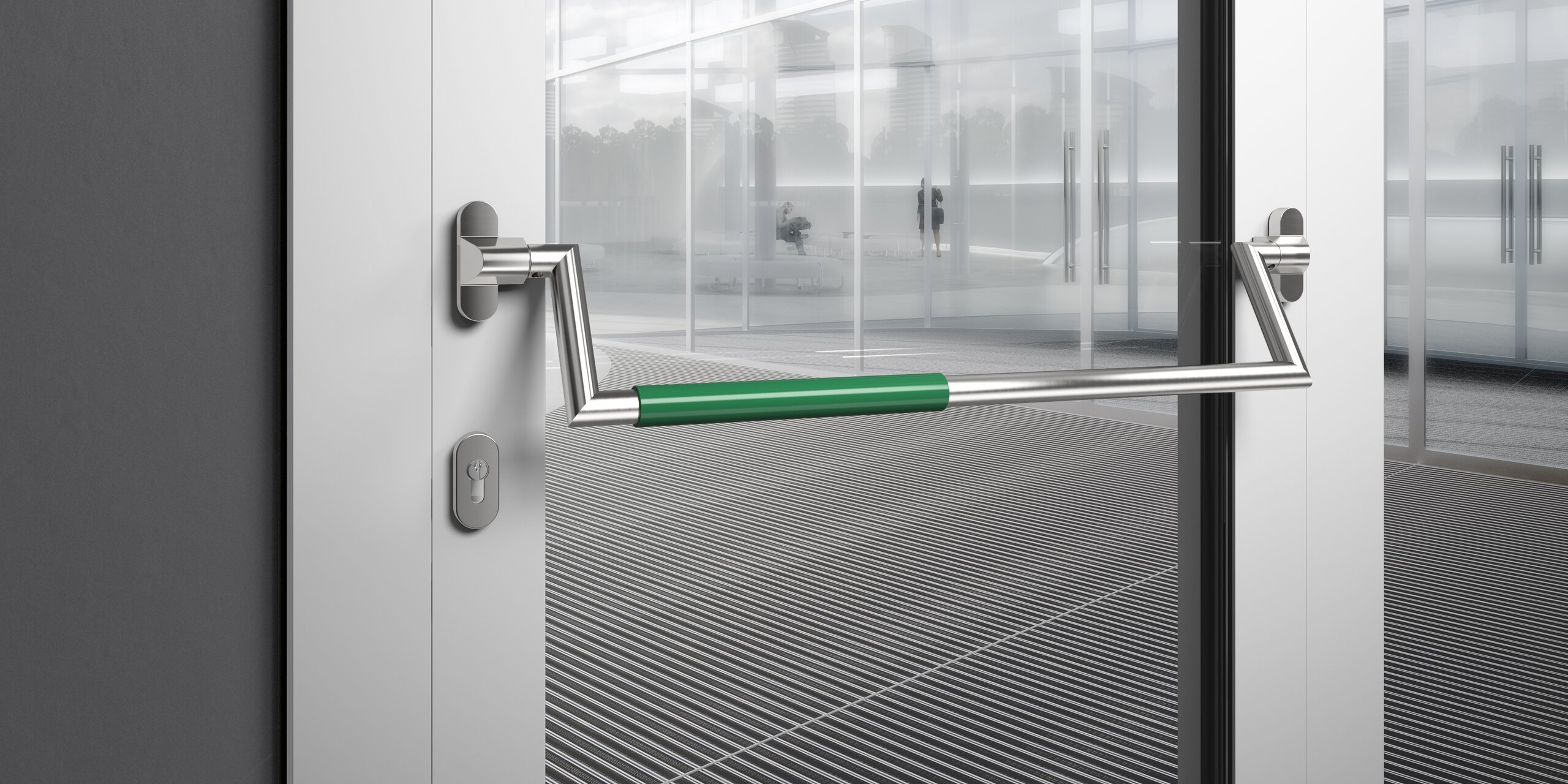 Panic Bar From Hewi Safety At The Escape Door Hewi